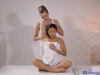 May Thai, Stacy Cruz - Petite Thai shares dildo with teen