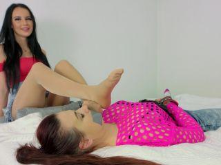 Pantyhose feet – Dominant Femine – Eliza Weronika – Best Friends - pantyhose - fetish porn mean girls femdom