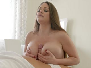 About video A silky robe gapes open to show off Cathy Heaven's massi ...