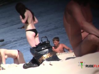 Astounding young nudists grope each other's figures