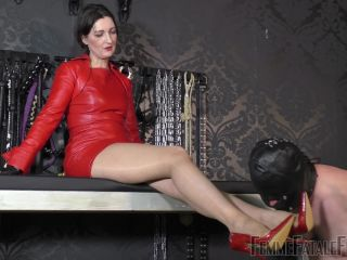 Femme Fatale Films - Victoria Valente - Red Leather Day Part 1-2!!!