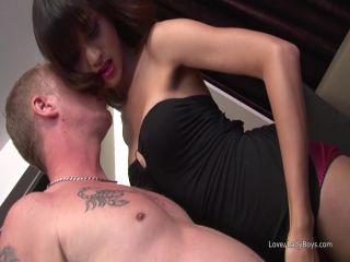 Realsexpass.com- Hot ladyboy Aor fingered, fucked and facialized