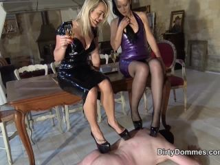 Dirty Dommes - DOUBLE LOUBOUTIN TRAMPLING!!!