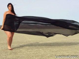 Luscious Lopez - Luscious Lopez nude in black