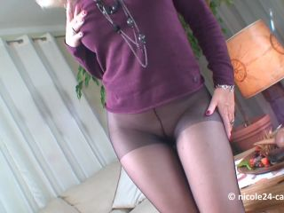 Black Pantyhose Footjob [FetishMania] Nicole24 (1080p), foot fetish furry on pov