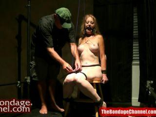 Redhead milf nippleasm torture