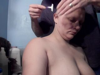 bald girl not happy with eyebrow shave