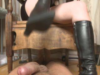 Black Boots Bootjob – Mistress T!!!