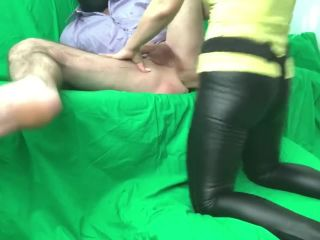Pegging, femdom, strapon. Dominated by russian girl