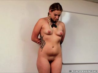 RealSpankingsInstitute – Cara Spanked for Being Late | real spankings institute | femdom porn ddlg fetish