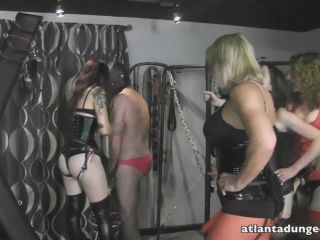 Strap-on – Atlanta Dungeon – Let's Sissify The Slut – Mistress Ayn, Mistress Ultra Violet, Goddess Samantha, and Switchblade Jade