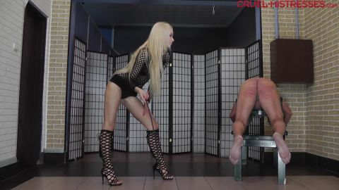 Mistress Ariel - Pain Caused By A Cane (720p)