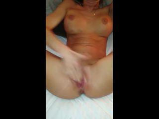 Busty girlfriend rubbing clit till squirting orgasm