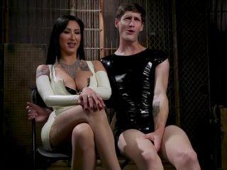 Lick My Latex: Mischievous Lily Lane Devours Fetish Sub Tony Orlando