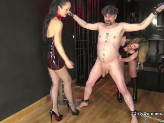 DirtyDommes – Fetish Liza, Nikki Whiplash – Vicious Ballbusting Castration Part 2