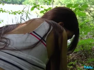 Horny sexy tourist fucked in forest