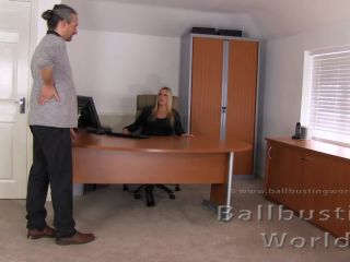 BallbustingWorld — Nikki Whiplash  — Cruel Office Ballbusting