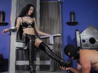 Boot Domination – Cybill Troy FemDom Anti-Sex League – Luzia's Boot Bitch Starring Luzia Lowe