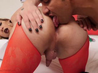 Luana Pacheco Red Lingerie Stuffed With Toys And Bareback (22 November 2018)