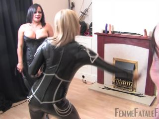 Femme Fatale Films   Frenzied Whipping   Complete Film. Starring Mistress Athena and Mistress R