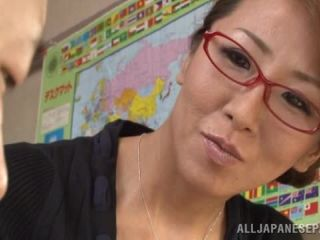 Awesome Busty Japanese teacher gets lots of facial cumshot Video Online