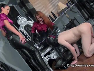 Boot Worship – QUEENS OF KINK – Milked Boot Whore Starring Mistress Rebekka Raynor and Fetish Liza