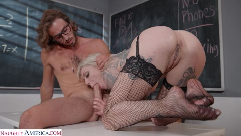 Karma RX - Tattooed vixen, Karma Rx, fucks her student to make her foot feel better [FullHD 1080P]