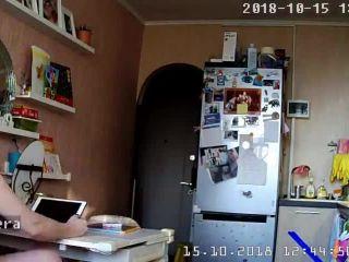 Nice nude girl in the bedroom. hidden cam
