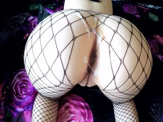 amateur tease big ass | Vivi Lavish - She got Lots of Cum on her round Ass in Fishnets  | amateur
