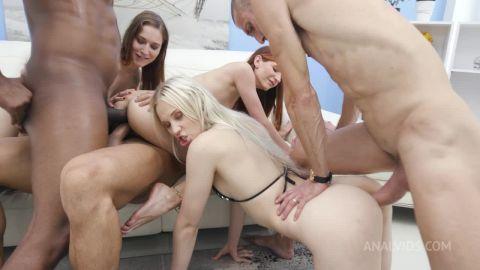 Mina, Nikki Hill, Lina Arian - KUCKMAL WHORES - Mina, Nikki Hill, and Lina Arian 0% pussy orgy with great gapes, DAP, foot fetish, and more AX010 [HD 720P]