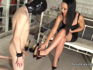 Porn online [Femdom 2018] Fetish Liza – Louboutin fitting and shoejob part 1 [Shoejob, Liza, Louboutins] femdom