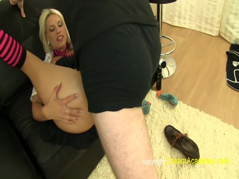 Blanche Bradburry - Blanche in schoolie outfit creampied (1080p)