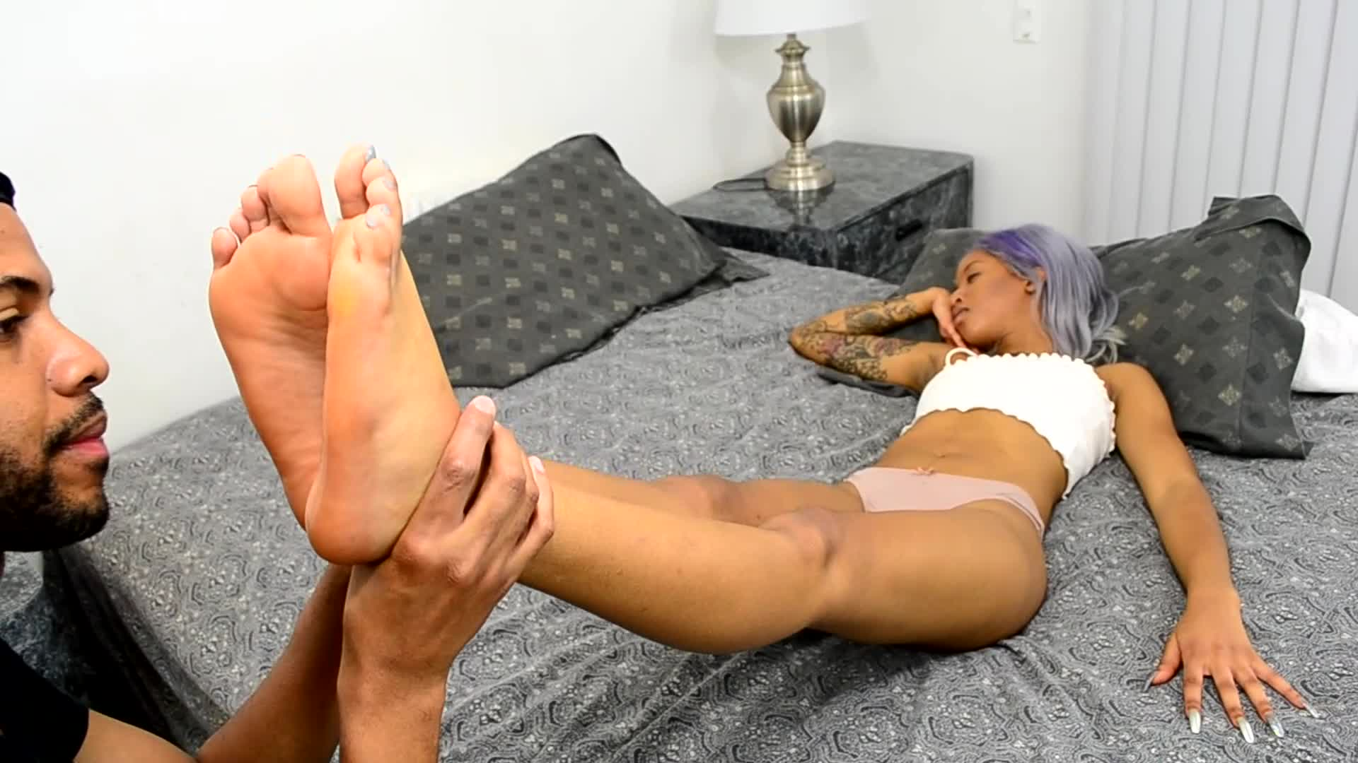 Sleepy Asian Foot Worship