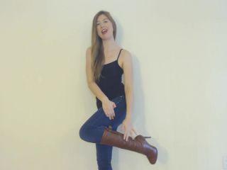 miss lilly lynn  leather boot bitch  goddess worship