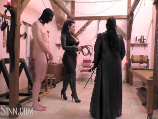 Shoe & Boot Worship – Mistress Ezada Sinn – Cruel double whipping at the OWK – Mistress Saint Lawrence