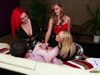 tara tainton femdom femdom porn | PureCFNM – No Nut November – Amber Deen, Honour May and Roxi Keogh – Handjob – Triple Domination, Milking | sperm