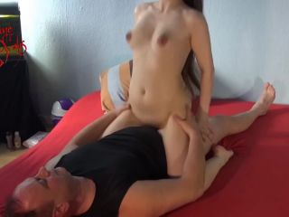 Nadine Cays / Granddaughter rides Grandfather`s big dick like a stalli ...
