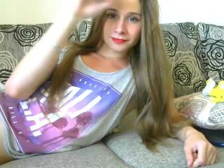 Cute Ukrainian femboy fucks herself and strokes