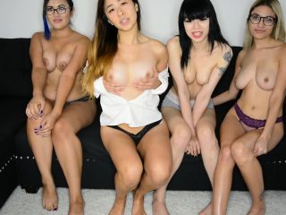[Manyvids] Nicole Eden - Four Girls Laugh at Your Tiny Dick HD