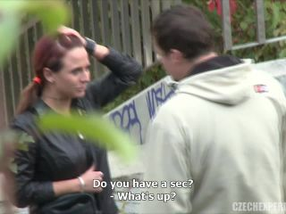 Czech Experiment - Tereza fucks a guy in a park
