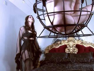 Footlicking – Femme Fatale Films – The Caged Sniffer – Part 1 – Mistress Serena