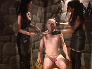 F E M D O M Goddesses – Interrogation of naked slave by mistresses in leather Starring Lady Alektra and Mistress Blackdiamoond