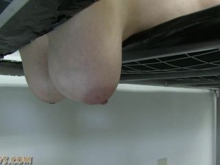 Hucows.com- Alais - gagged on the milking bed