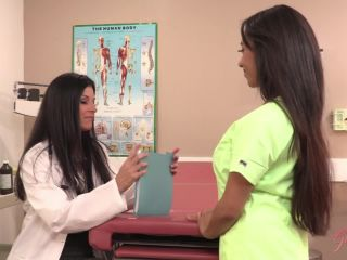 Lesbimania 7416-Doctor gives nurse a private examination to pass the t ...