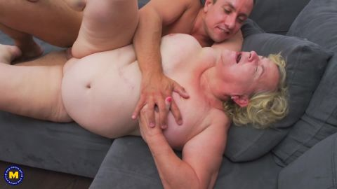 Haline - Big breasted Granny Haline loves to get a good fuck from her way younger lover (1080p)