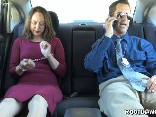 Simone Moore in Back Seat Footjob