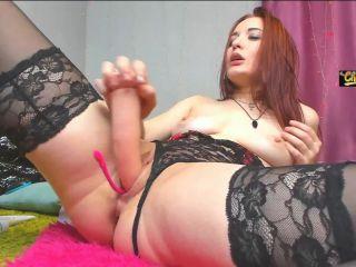 Redhead naked camgirl Sonya Keller giant toy penetration - redhead - toys