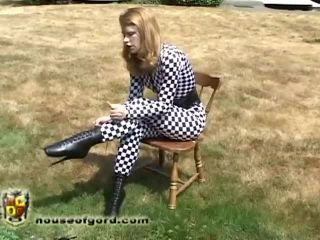lawn ornament madison young microfoam gagged 480p