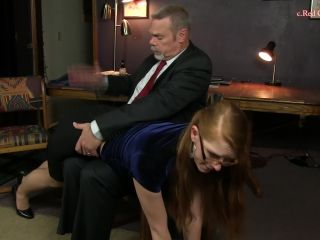 Lavender finds herself over her colleague's lap getting a good spankin ...