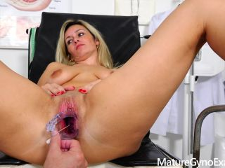 Cute submissive milf cervix gyno exam